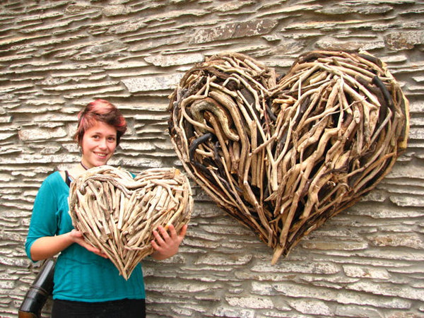 Driftwood Heart Sizes