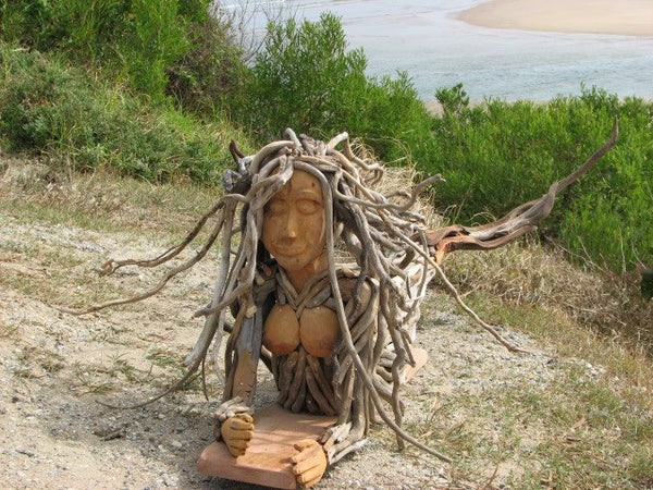 driftwood mermaid sculpture 04