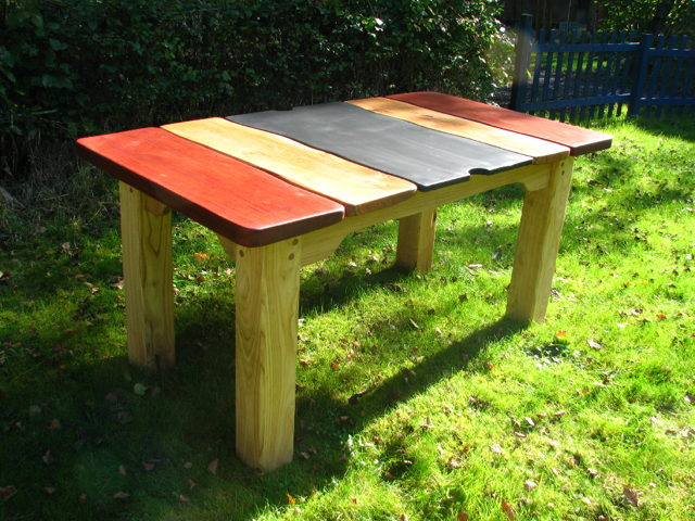Oak Patio Table