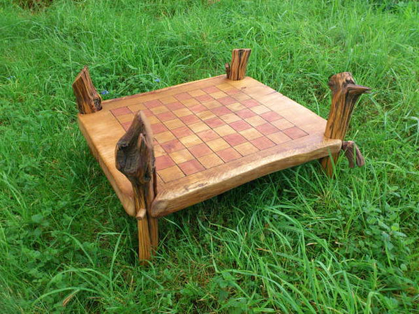 oak chess table
