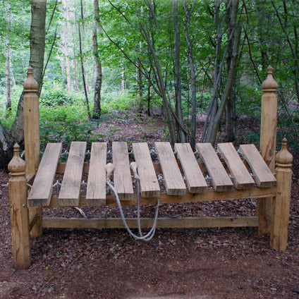 outdoor wooden xylophone