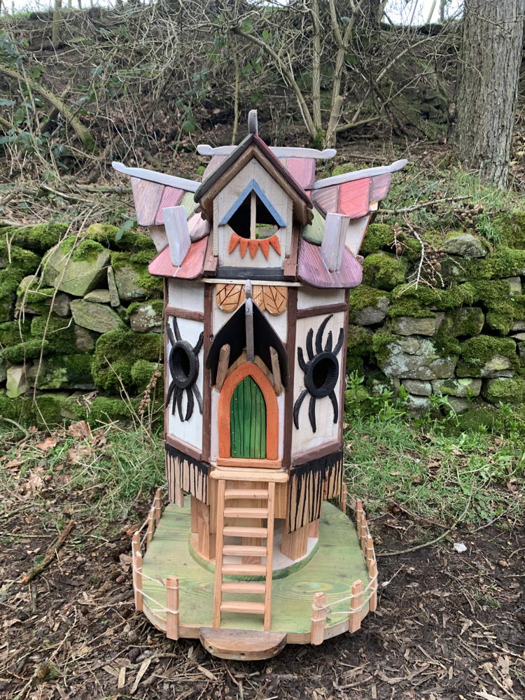 spider fairy houses for woodland