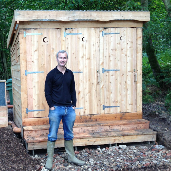 compost toilet block