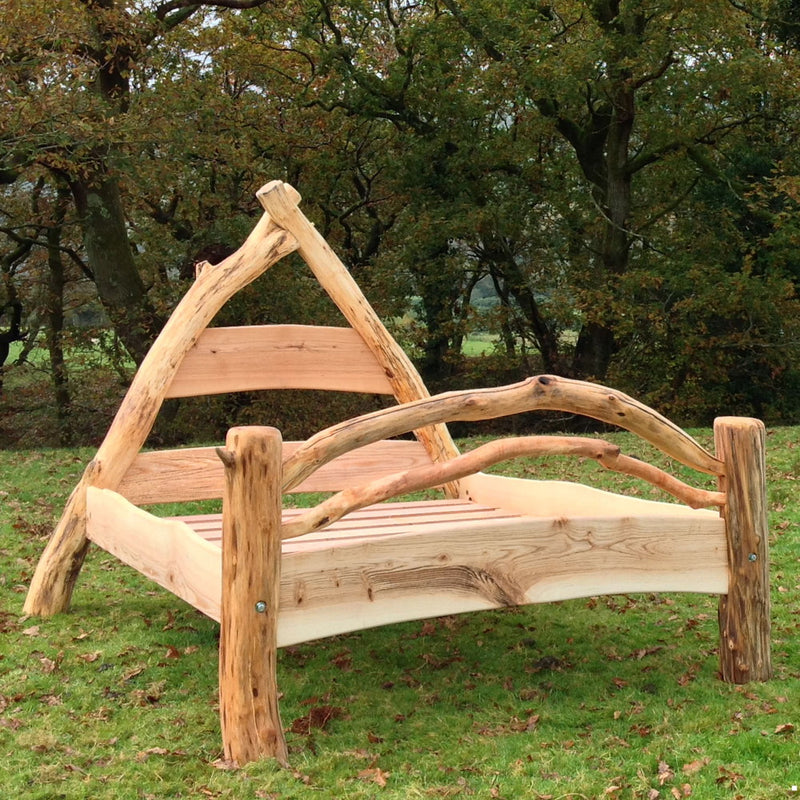 wooden oak bed frame