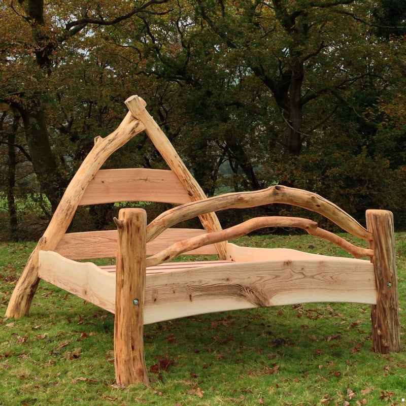 handmade wooden bed