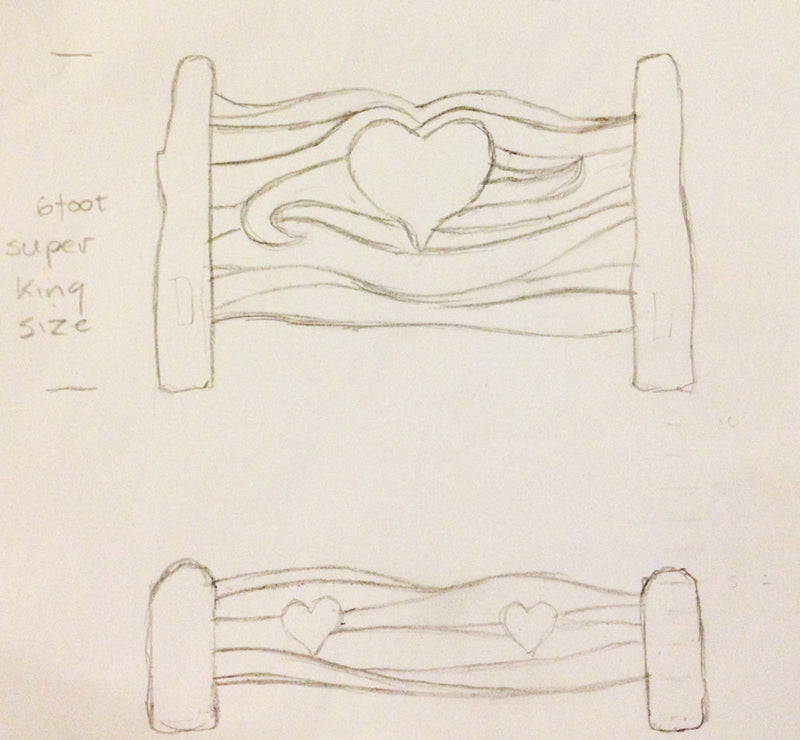 bespoke heart bed