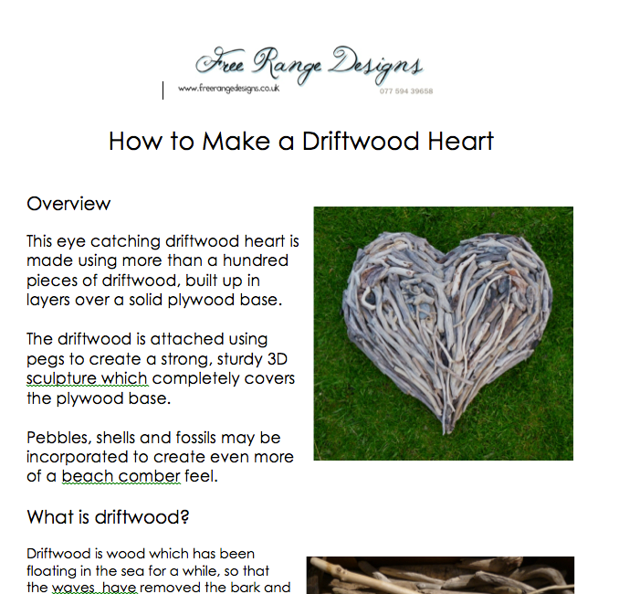 how to make a driftwood heart 5