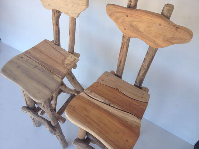 rustic bar chair