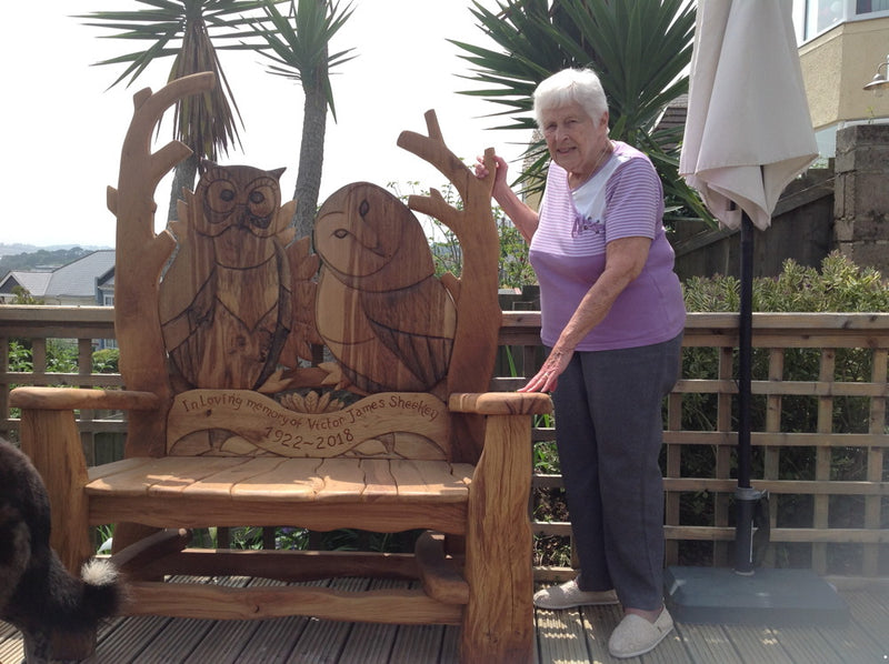 memorial bench with margaret