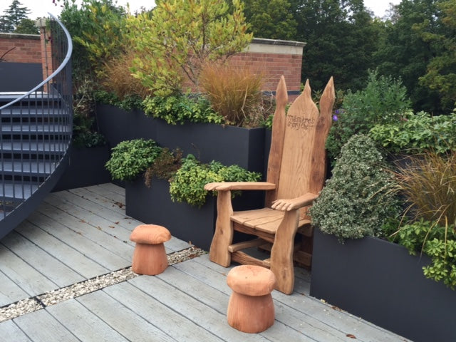 oak garden chair