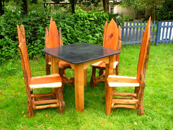 slate patio table set