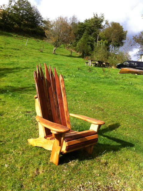rustic adirondack chair