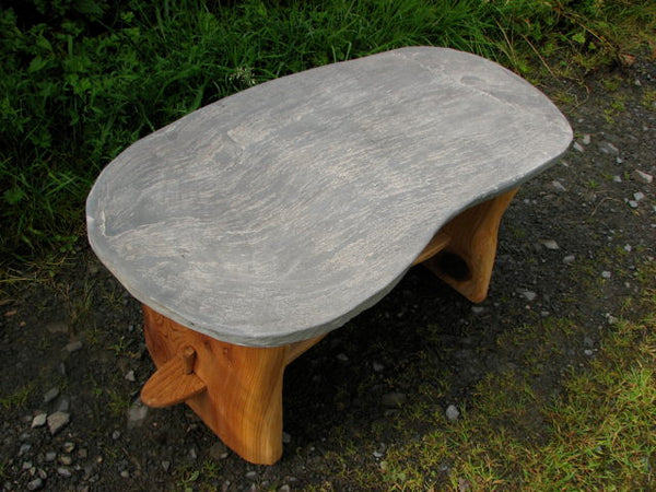 Slate Coffee Table / Garden Bench