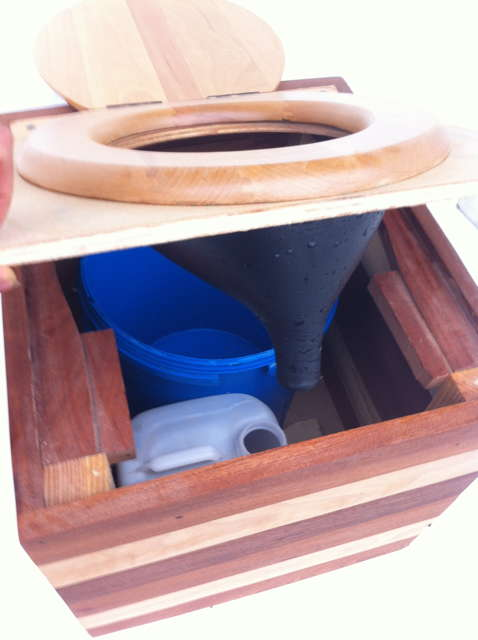URINE DIVERTER for Dry Composting Toilet. Plastic Wee Separator (Separett Privy)