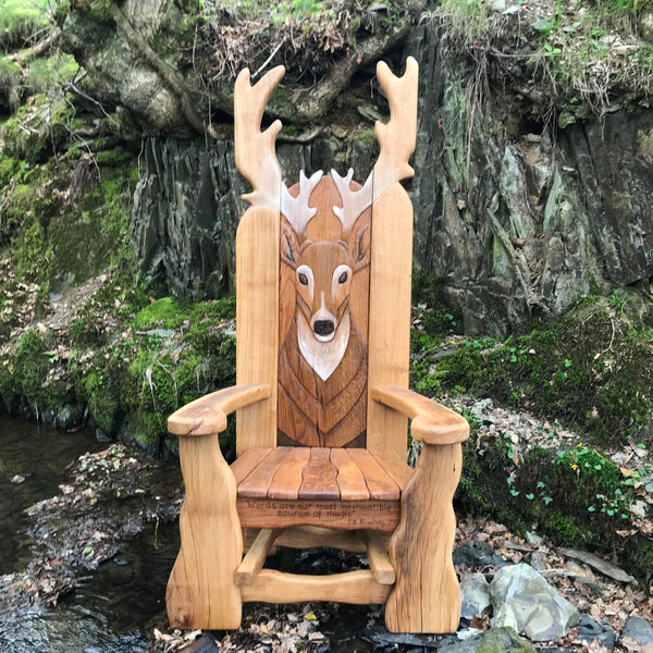 woodland stag storytelling chair