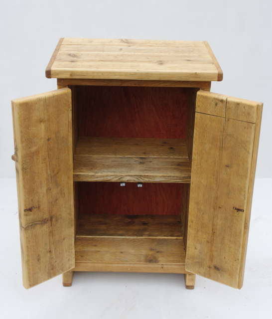 rustic oak shelving unit