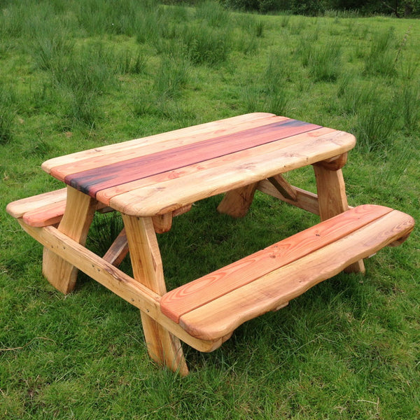 oak picnic bench table