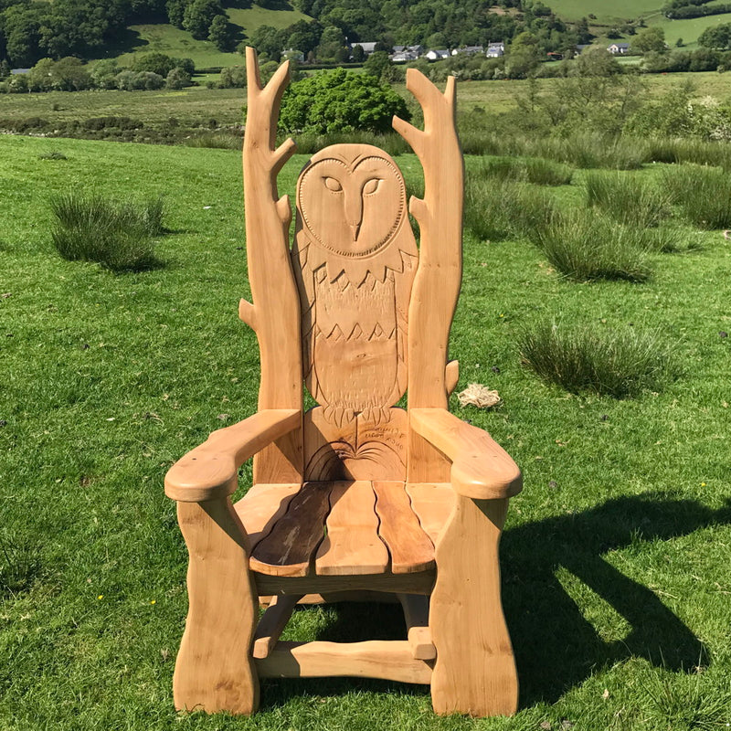 oak reading chair