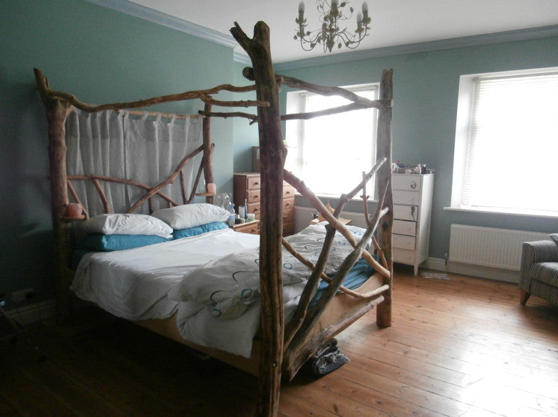 driftwood four post canopy bed