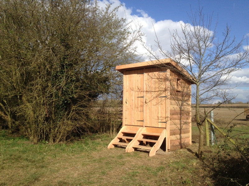twin compost toilet for campsite