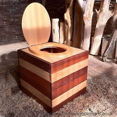 Portable Composting Toilet Box - Eco Friendly, Waterless Compost Toilet[Pine]