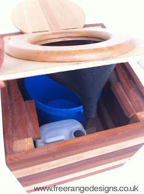 Portable Composting Toilet Box - Eco Friendly, Waterless Compost Toilet[Stripy]