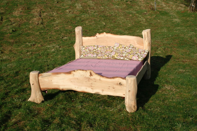 rustic oak driftwood bed03