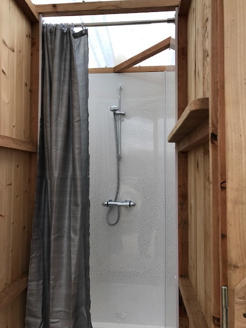 glamping shower