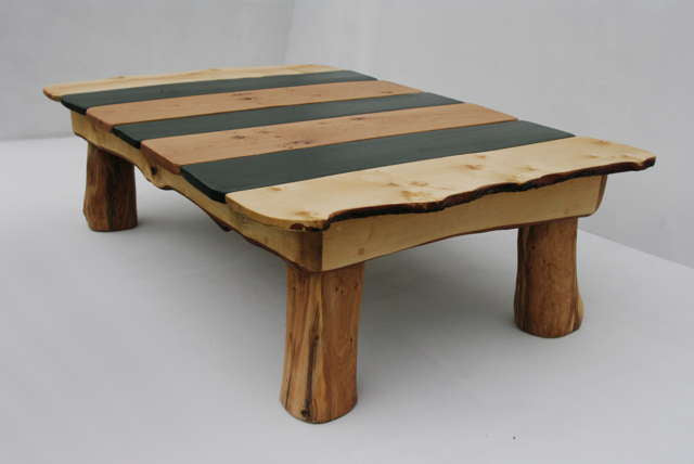 slate and wood table