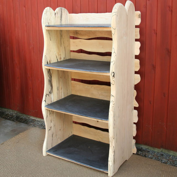 reclaimed wooden shelf