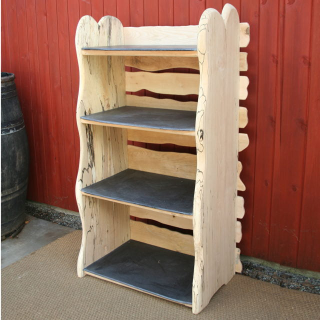 wooden beech shelf