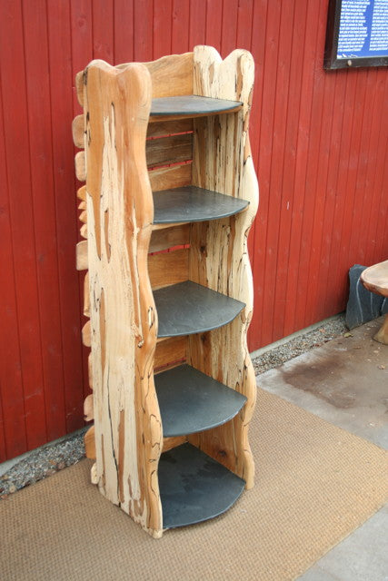 wooden book shelving