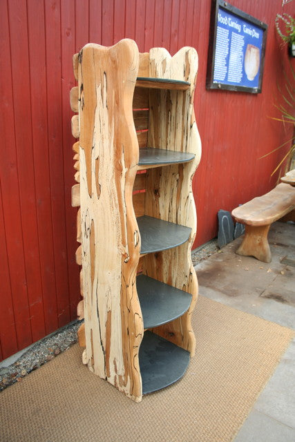 book shelf from reclaimed wood