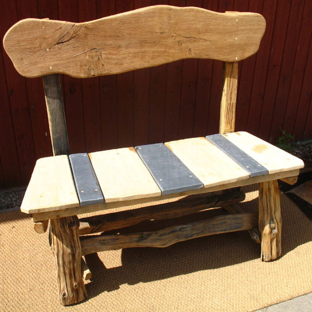 Slate and Oak Bench