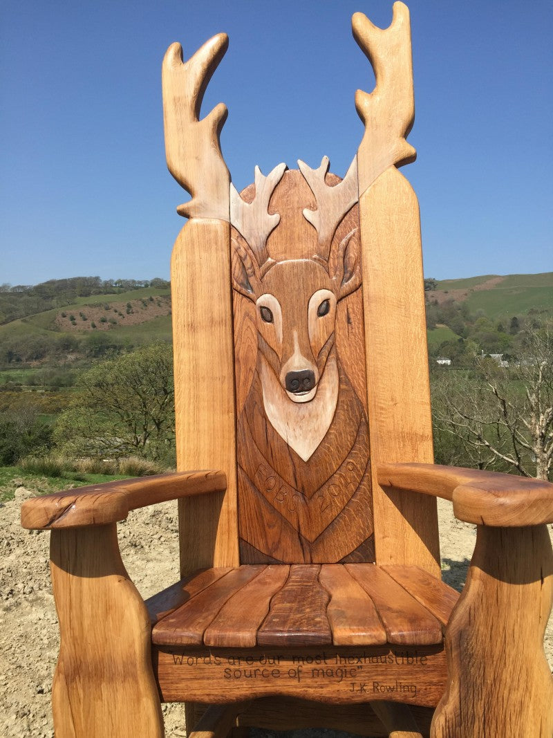 carved garden chair