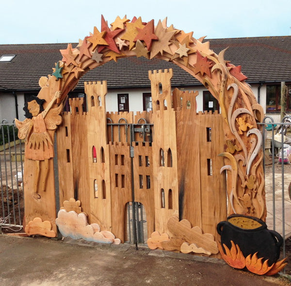 outdoor arch for school