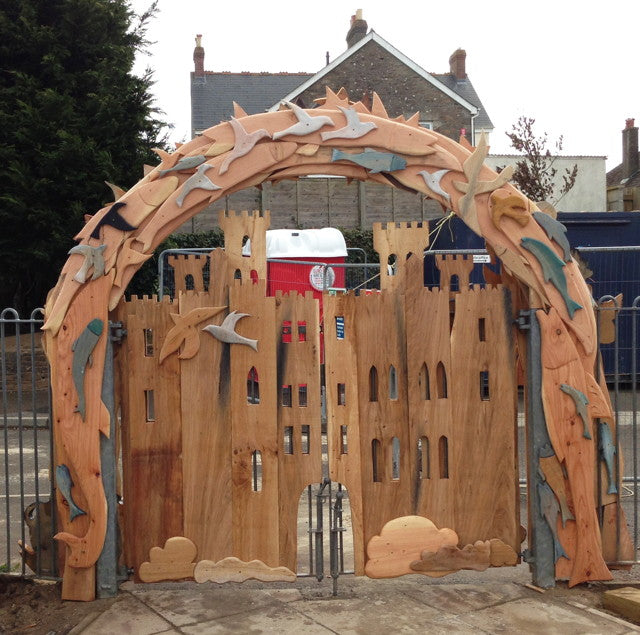 wooden arch for school