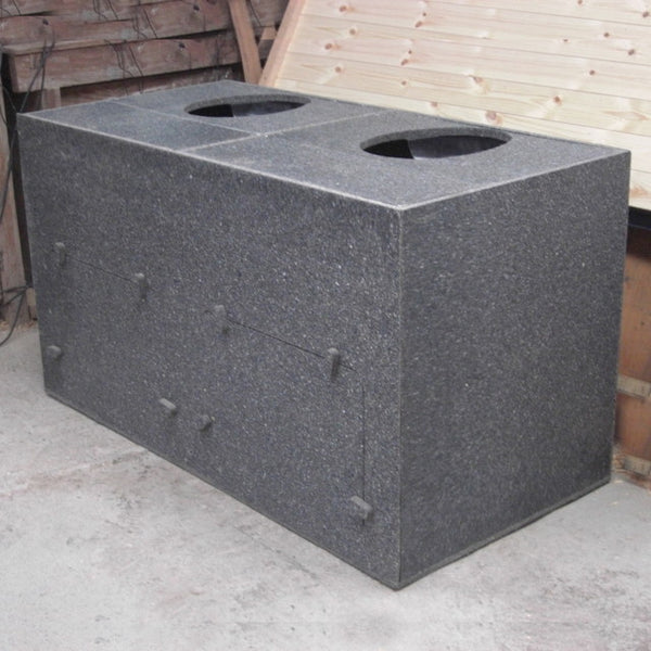 twin chamber compost toilet box