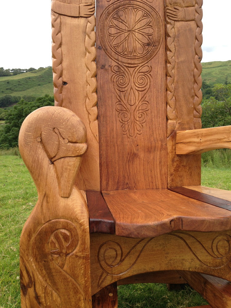 hand carved outdoor chair