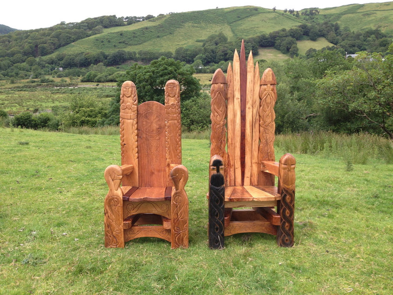 handmade-oak-throne