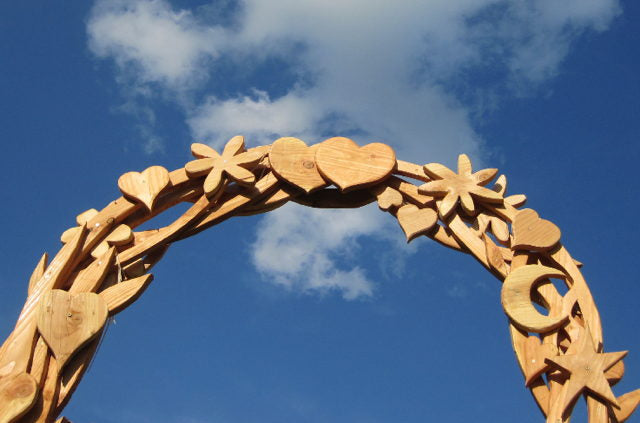 wedding arch driftwood