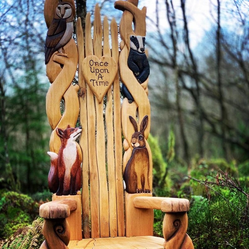 woodland oak throne