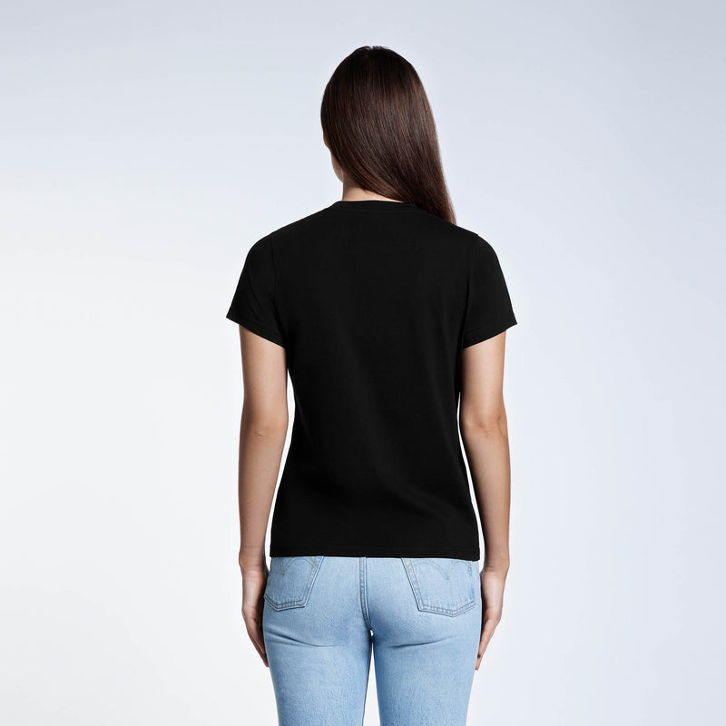 Women's Style 6.4 Ounce Original Premium Weight Tee Black 100% Organic Cotton