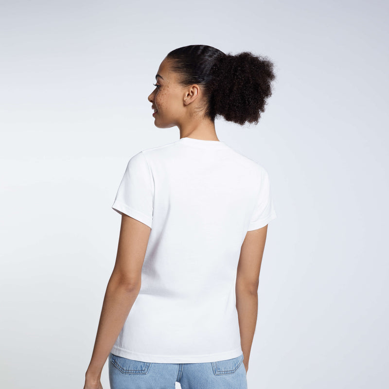 Women's Style 6.4 Ounce Original Premium Weight Tee White 100% Organic Cotton