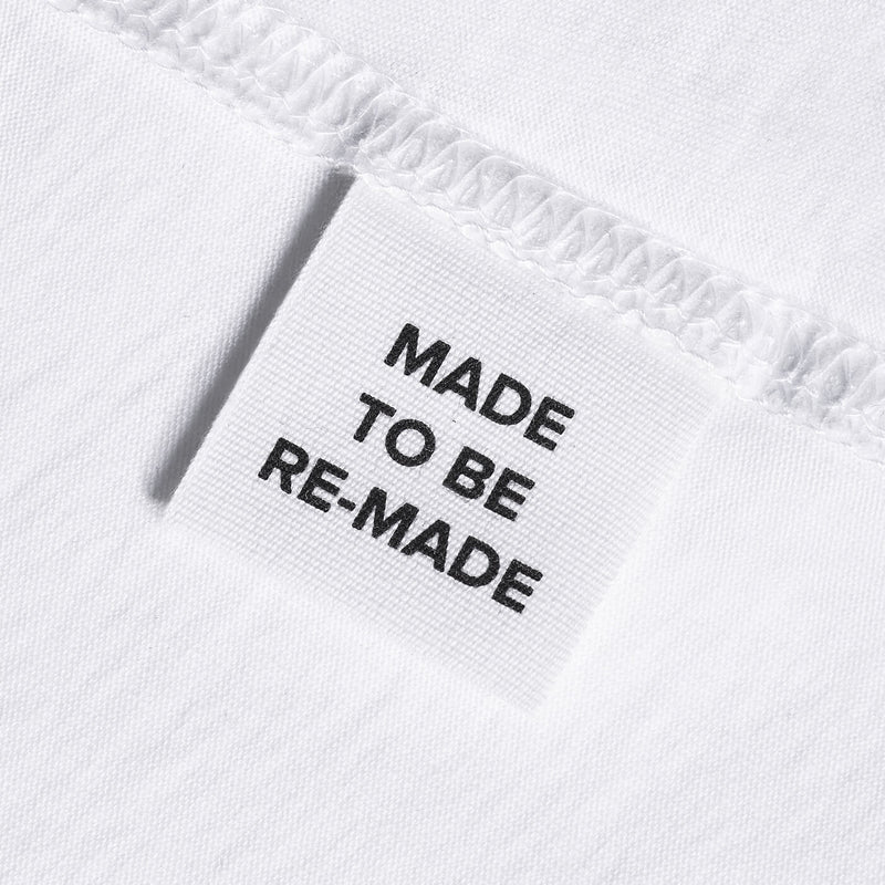 Made to be Re-Made Label White