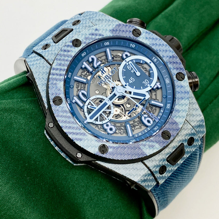 Hublot Big Bang UNICO Italia Independent Blue Camo Limited Edition - The Watch Lounge Shop