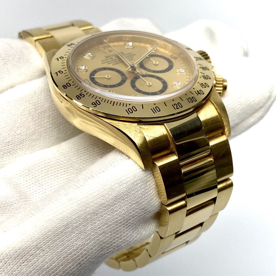 "Rolex ""Zenith"" Daytona Ref 16528 (Serti Dial) - The Watch Lounge"