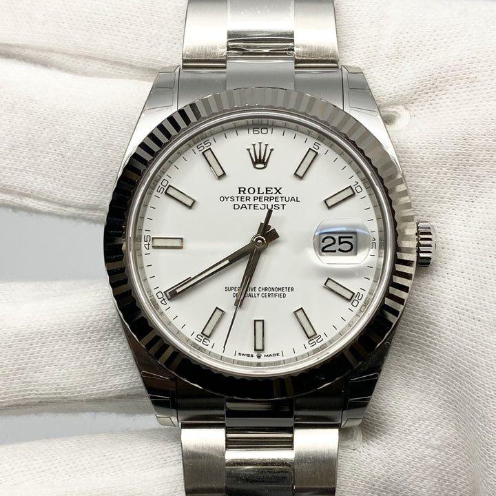 Rolex Datejust 41 Ref 126334 White Dial - The Watch Lounge Shop