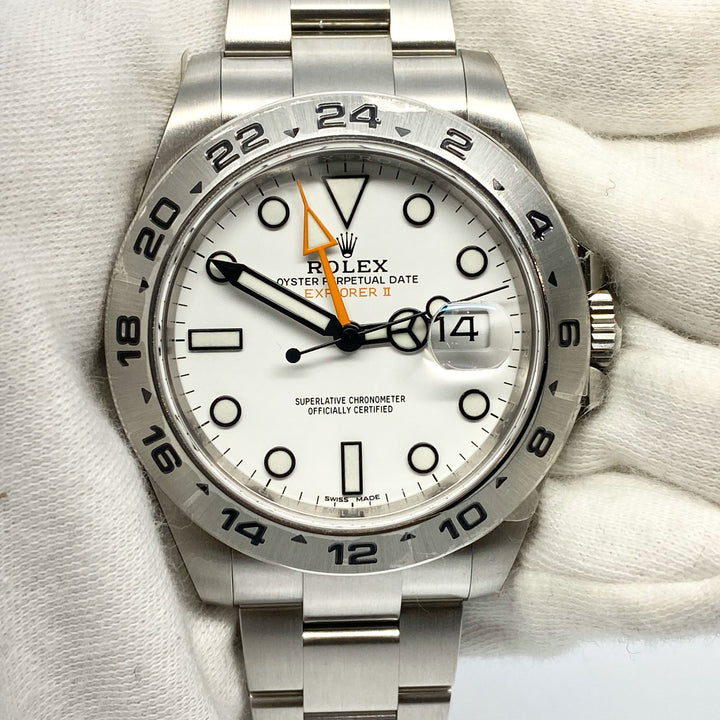 Rolex Explorer II Ref 216570 Polar Dial The Watch Lounge Shop