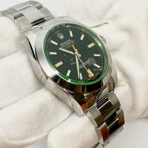 Rolex Milgauss 116400GV Black Dial - The Watch Lounge Shop